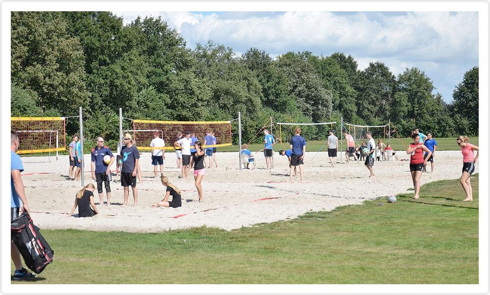 Beachvelden volleybal, handbal, voetbal
